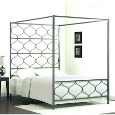 Iron Canopy Bed King Size Metal Canopy Bed Frame Chrome Canopy Bed ...