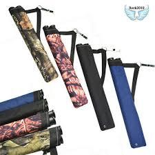 <b>1pc</b> Archery Quiver Pouch 2 Tube Shoulder <b>Arrow</b> Holder 4 Colors ...