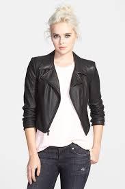 image of sam edelman perforated faux leather moto jacket