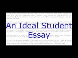 an ideal student english essay