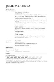 Resume For Maintenance