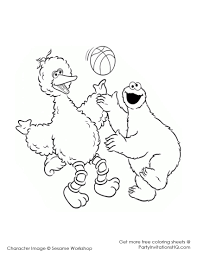 Small Picture Sesame Street Big Bird Coloring Page Printable Pages Sesame Page adult