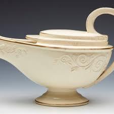 Antique Creamware Aladdin Lamp Shaped Sauce Boat C1800 Ce83208