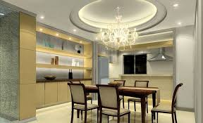 luxury crystal chandelier idea for clear glass dining table with silver seamless platform on ceiling modern dining room ceiling decorating ideas dining