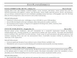 Event Coordinator Sample Resume Event Coordinator Resumes Resume Mesmerizing Resume Event Planning