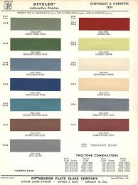 Chevy Stock Chart 1959 Chevrolet Body Colors What Color Was Your Chevrolet