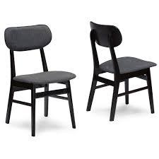Black Wood Dining Chairs Baxton Studio Debbie Mid Century Dark Brown Wood 5pc Dining Set