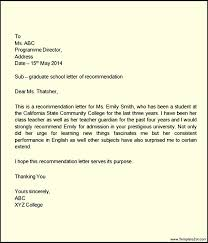 Letter of Re mendation for Elementary Student