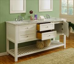 70 ord double vanity pearl white white carrera marble top