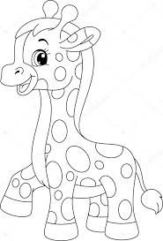 Weinig Giraf Kleurplaat Stockvector Malyaka 61678369