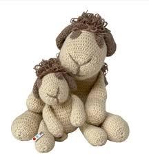 Mamma pecora e il suo cucciolo shabby - Ponkia by Lady Anna - I Ricami della  Nonna