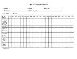 Observation Chart For Students The Time On Task Chart I Cant Live Without