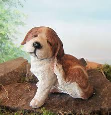 Süsser Jack Russel Welpe L 18cm Hund Deko Figur Tierfigur