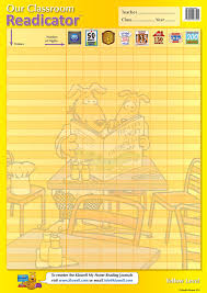 Our Classroom Readicator A2 Chart Yellow 1 Free Per Class Set