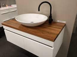 Timber Bathroom Accessories 900mm Allure Wall Hung Vanity With Timber Top Nice Drawers And