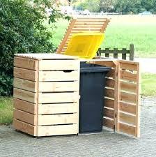 garbage can enclosure storage ideas outdoor trash wood bin horizon