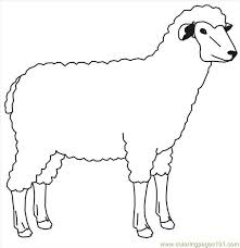 Small Picture Sheep 1 Coloring Page Free Sheep Coloring Pages