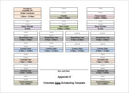 volunteer schedule template. Volunteer Schedule Templates 11 Free Word Excel PDF Format
