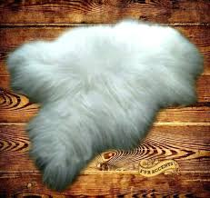 faux fur area rug ry faux sheepskin area rug 5x8 white