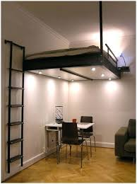 suspended loft bed small home office design with ceiling suspended loft beds also black swivel study suspended loft bed