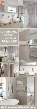 Our bathrooms come in a range of colours, from taupe