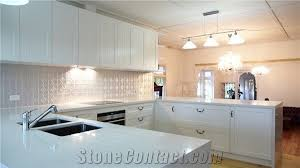 pure white solid surface kitchen countertop