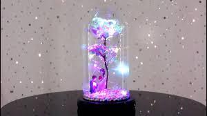 Enchanted Led Rose Light Avozones Galaxy Enchanted Rose Led Glass