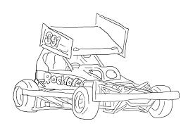 Sprint Car Drawing At Getdrawingscom Free For Personal Dirt