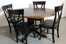custom made 50 round farm style dining table from old pine