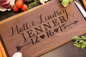 personalized cutting board newlyweds gift bridal shower end wedding gifts ideas
