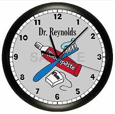 dentist office wall clock personalized