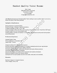 Qa Tester Resume Sample Qa Tester Resume Lovely Java And Perl Cover Letter Of Software 20
