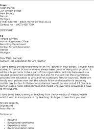 Sample Art Teacher Cover Letter Hitori Goto Sample Cover Letter For Art Teacher Job