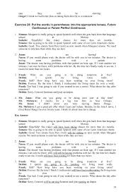 Verb tense exercises+answer, 080912