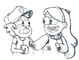 Gravity Falls Coloring Page Pages Online Rgbdesignco