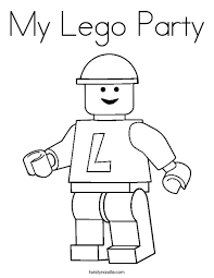 Small Picture My Lego Party Coloring Page Twisty Noodle