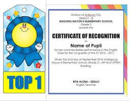 parenting certificate templates editable quarterly awards certificate template deped tambayan ph