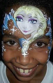 elsa face painting by facepaintingparadise