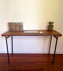 reclaimed barn wood pipe desk made from reclaimed barn wood and black steel pipe
