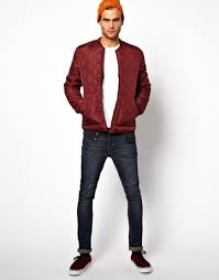 Asos Solid Quilted Jacket in Red for Men | Lyst & Gallery Adamdwight.com