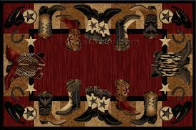 professional western area rugs red boots 5 x 8 rug scissors and fabrics