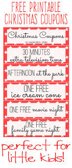 Coupon Templates Free Free Printable Kids Christmas Coupon Books Stocking Stuffers 12