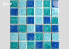 2 color assorted ice ed glass mosaic tile sheets for swimming pool 36 pcs