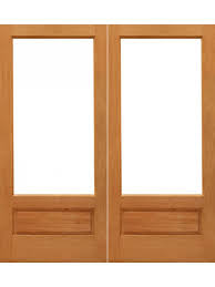 1 lite p b french brazilian mahogany wood 1 panel ig glass double door by aaw french