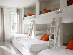 bed with walls. Unique Walls Built In Bunk Beds With Orange And Gray Pillows On Bed With Walls S