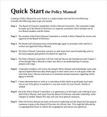 Sample Policy Manual Template | Madebyrichard.co