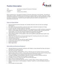 Awesome Collection Of Industrial Electrician Cover Letter On