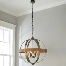 6 light metal and wood globe chandelier shades of light wood and metal chandelier canada