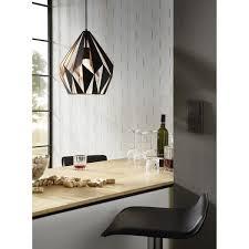 Carlton 1 Moderne Pendelleuchte Schwarz Kupfer Eglo 49254 Leuchtenr