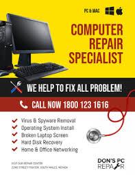 Free Computer Repair Flyers Postermywall